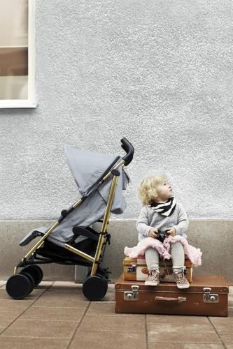 Elodie Details - wózek spacerowy Stockholm Stroller Golden Grey
