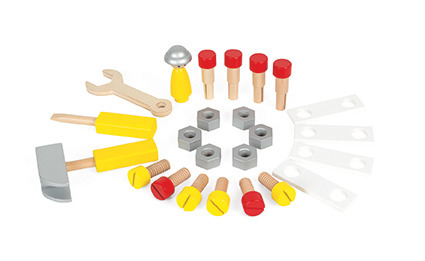 Janod - Chodzik warsztat magnetyczny z narzędziami Bricolo
