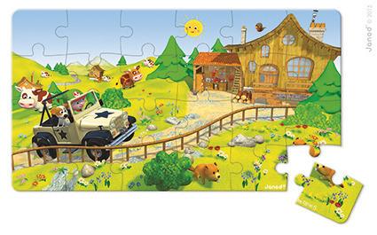 Janod - Puzzle 2w1 Terenówka Alka