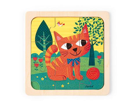 Janod - Puzzle drewniane Kot Felix