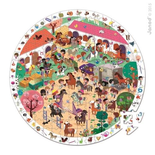 Janod - Puzzle obserwacyjne w walizce Stadnina