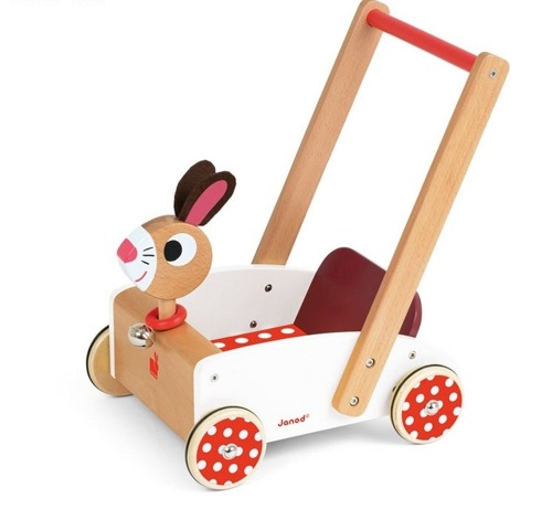 Janod - Szalony królik wózek chodzik