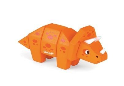 Janod - Triceratops drewniany do złożenia