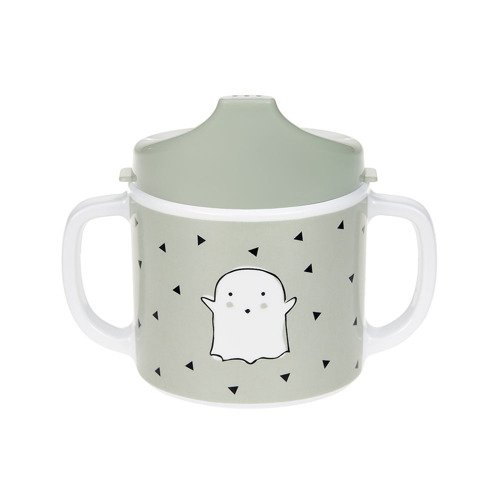 Lassig – Kubek z dziubkiem z melaminy Little Spookies Olive