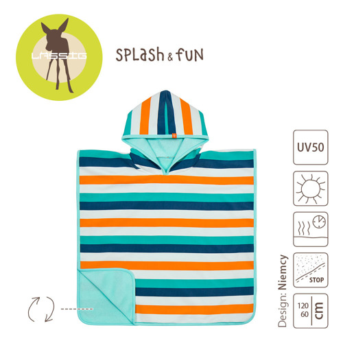Lassig - Ręcznik Poncho Multistripe