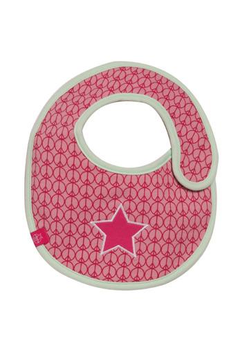 Lassig - Śliniak bawełniany wodoodporny Starlight magenta