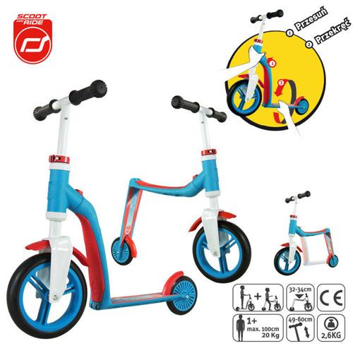 Scootandride - Highwaybaby 2w1 hulajnoga i rowerek 1+ Blue