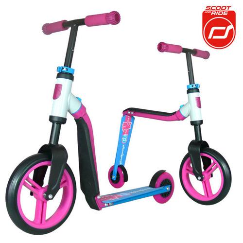 Scootandride - Highwaybuddy 2w1 hulajnoga i rowerek 3+ Pink