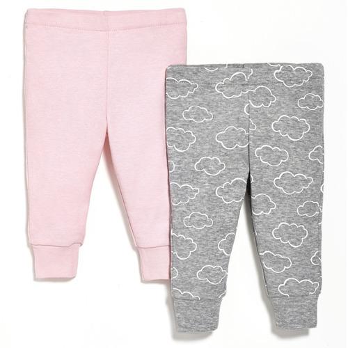 Skip Hop - Spodnie 2 szt. Pink 6M