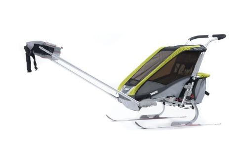 THULE Chariot Cougar 2 zielony, podwójny wózek do biegania + zestaw rowerowy