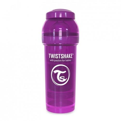 Twistshake - Antykolkowa butelka do karmienia, fioletowa 260ml