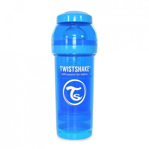 Twistshake - Antykolkowa butelka do karmienia, niebieska 260ml