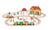 Janod - Farma kolejka drewniana zestaw 54 części