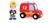Janod - Wóz strażacki ze strażakiem zestaw drewniany